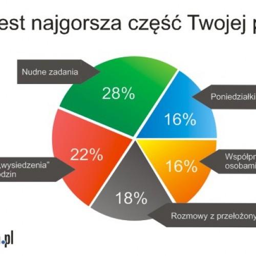 Jaką część swojej pracy Polacy lubią najmniej?