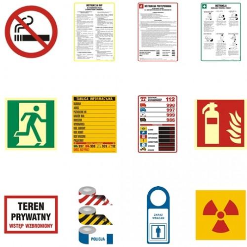 Profesjonalne tablice i znaki bhp
